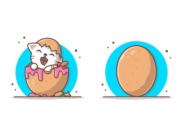 Gato no ovo