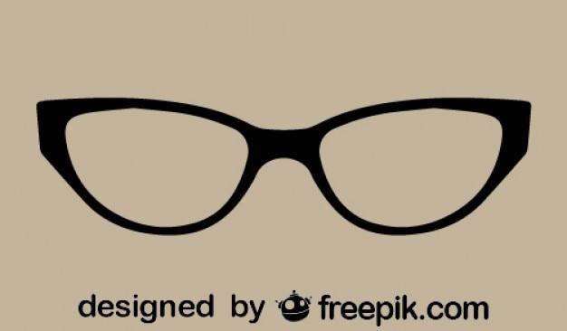 Gato retro clássico óculos