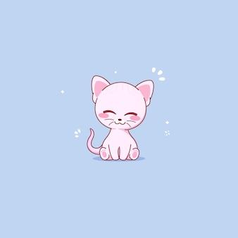 Gato sphynx fofo sentado. ilustração vetorial