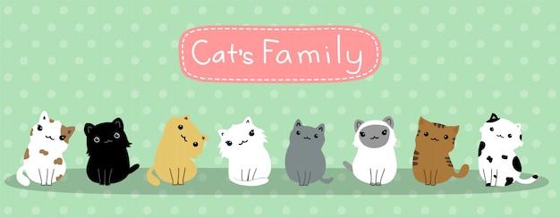 Gatos de bebê fofos da família do gato