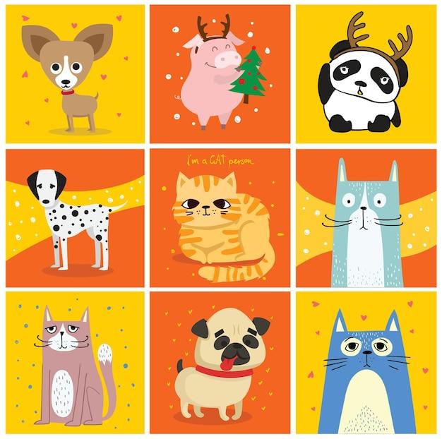 Gatos e cachorros legais