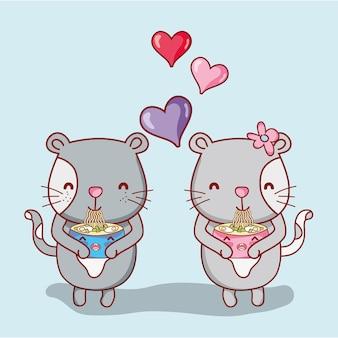 Gatos e sushi kawaii