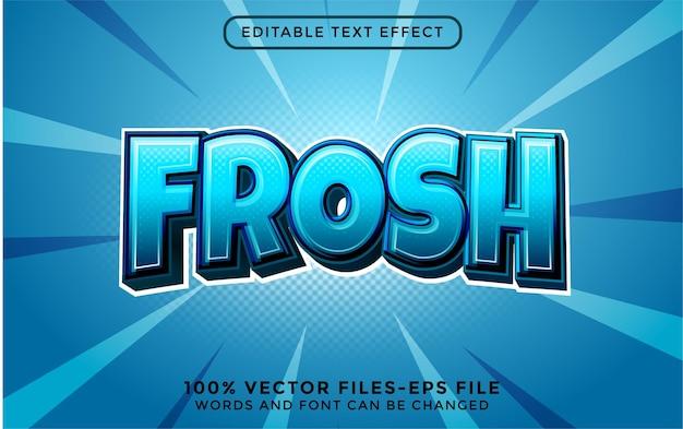 Geada. vetores premium de efeitos de texto editáveis