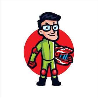 Geek de sprort dos desenhos animados