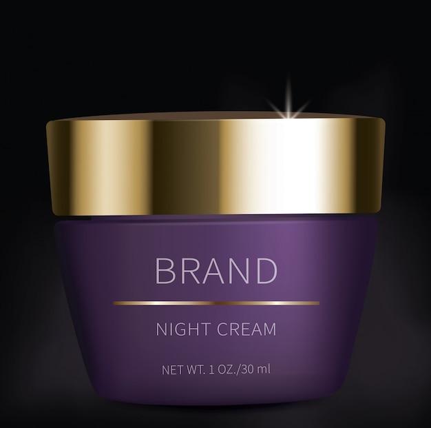 Gel cosmético noturno para cuidados com a pele dos olhos