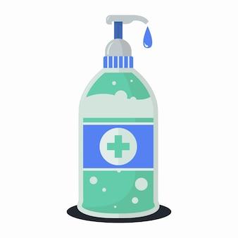Gel de lavagem de garrafa desinfetante para as mãos