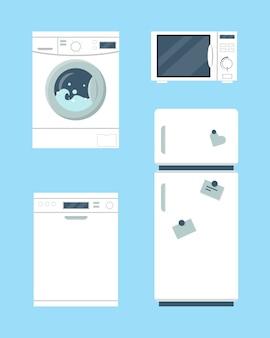 Geladeira e máquina de lavar