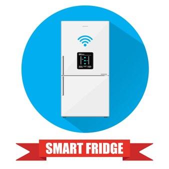 Geladeira inteligente ou geladeira com display lcd