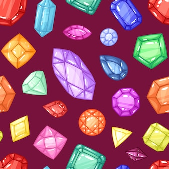 Gema de vetor de diamante e pedra preciosa diamante cristal pedra para jóias