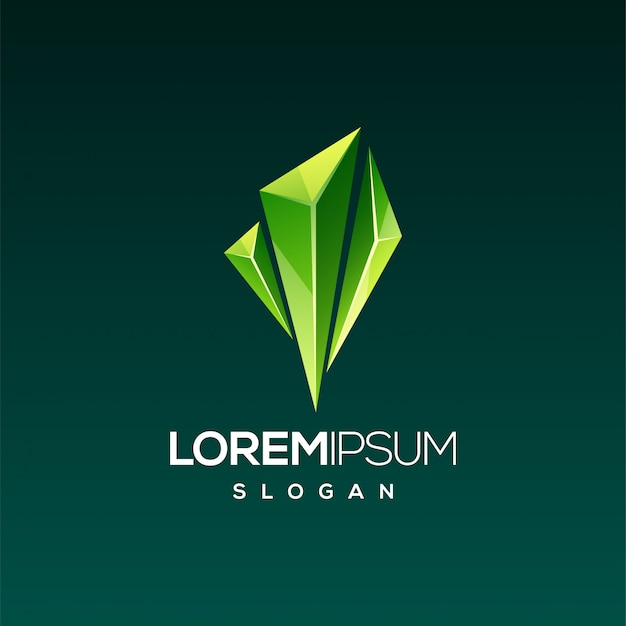 Gema esmeralda design de logotipo