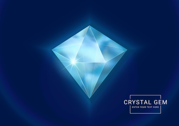 Gemas de joias de cristal de fantasia, pedra em forma de polígono para recursos de jogo.
