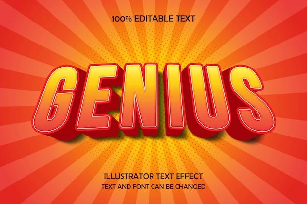 Gênio, estilo de sombra moderna de efeito de texto editável
