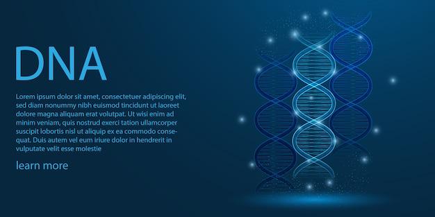 Genoma humano, conceito de tema de dna.