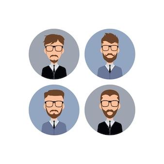 Gentleman hipster worker avatar - ilustração de arte em vetor