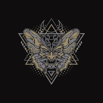 Geometria dark butterfly para mercadorias, roupas ou outros