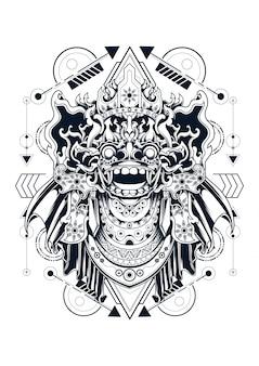 Geometria sagrada de barong bali