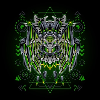 Geometria sagrada do robô águia