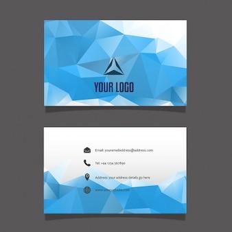 Geometric cartão moderno azul