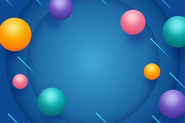 Geométrico abstrato com esferas 3d