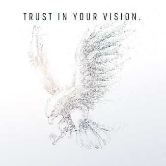 Geométrico abstrato e vértice de águia e visão de tecnologia e conceito futurista, águia americana, vetor eps 10