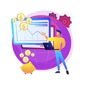 Geração de ideia de negócio. empreendedorismo, projeto de startup, rentável. ganhando dinheiro.
