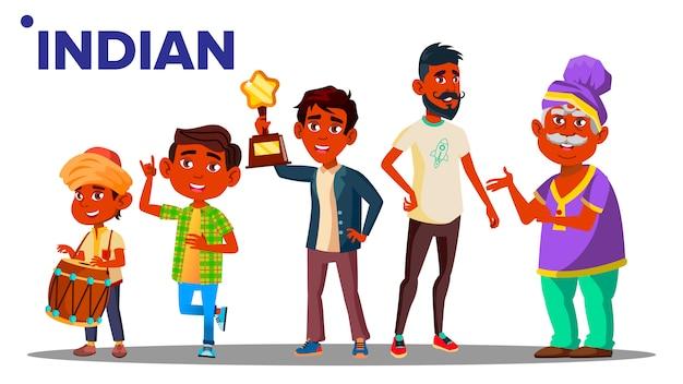 Geração indiana pessoas do sexo masculino