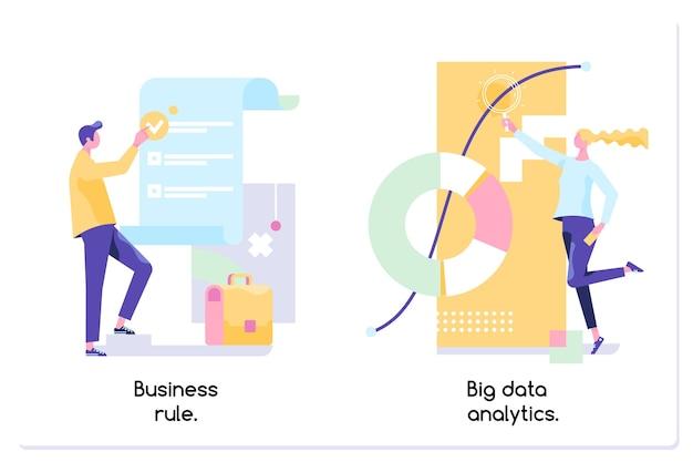 Gerenciamento de dados de software de aplicativo de análise de big data de regra de negócios