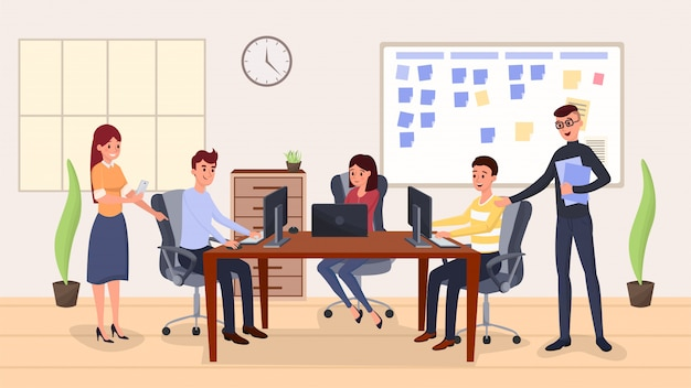 Gerenciamento de equipe, coworking