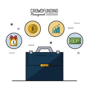 Gerenciamento de financiamento de multidões com pasta executiva