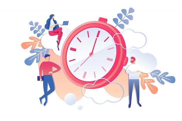 Gerenciamento de tempo de atividade profissional produtiva.
