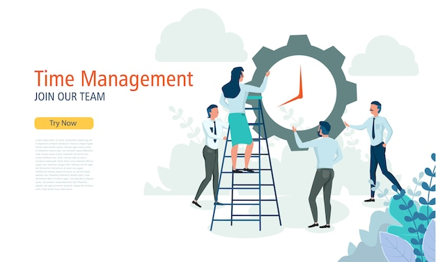 Gerenciamento de tempo de negócios para o modelo de design de layout