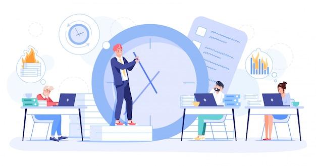 Gerenciamento de tempo, produtividade de prazos de falha
