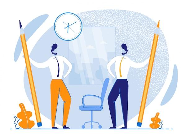 Gerenciamento efetivo do tempo do folheto informativo. tempo de uso mais eficiente.