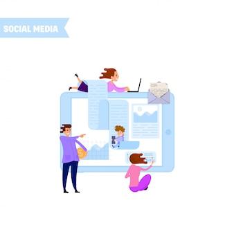 Gerenciar conta de mídia social