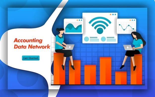 Gerenciar dados contábeis na rede da internet