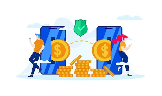 Gerencie finanças economize para investimentos futuros com banco móvel