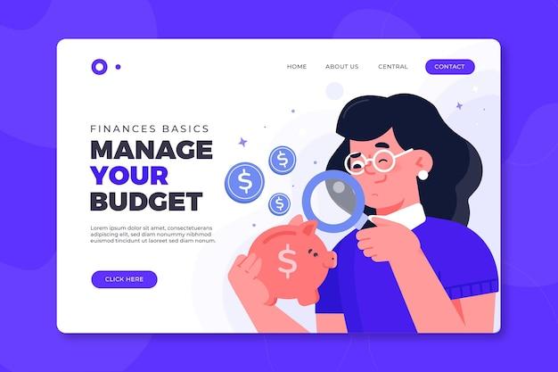 Gerencie o design da página de destino do seu orçamento