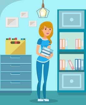 Gerente de escritório, student flat