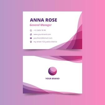Gerente geral cartão de visita com design abstrato