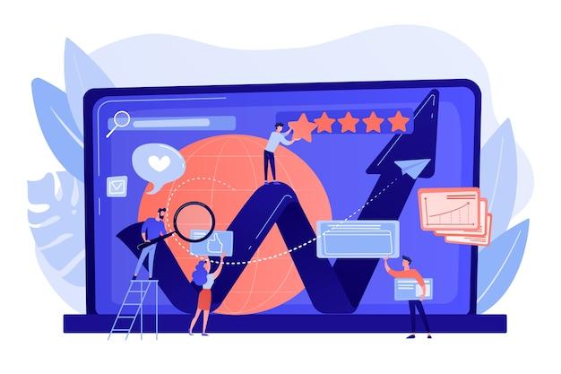 Gerentes de rp, marketing de internet coworking
