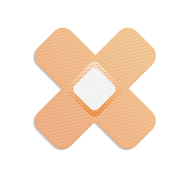 Gesso médico. bandagem adesiva ou esparadrapo.