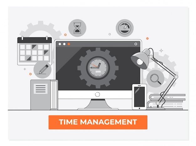 Gestão do tempo, planejamento e organização do tempo de trabalho