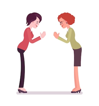 Gesto de arco de mulheres de negócios