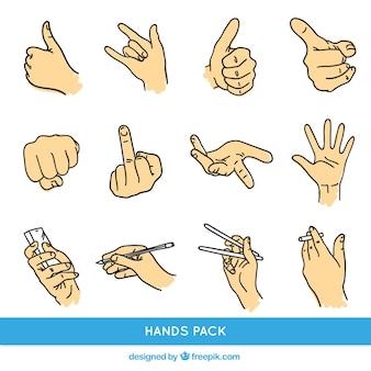 Gestos com as mãos