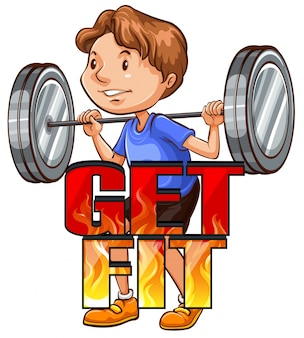 Get fit logo with athlete