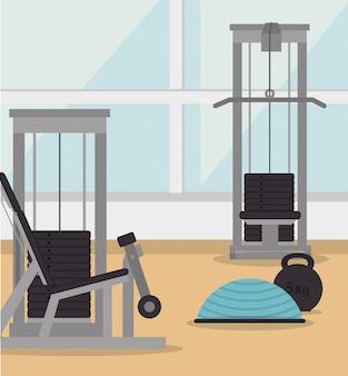 Ginásio e estilo de vida de fitness