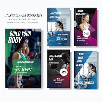 Ginásio e fitness marketing de mídia social