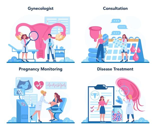 Ginecologista, reprodutologista e conceito de saúde feminina.