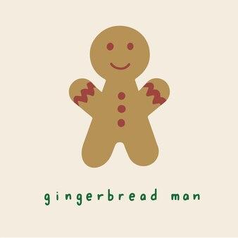 Gingerbread man symbol social media post ilustração vetorial de natal