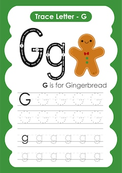 Gingerbread trace linhas de escrita e planilha de prática de desenho para crianças